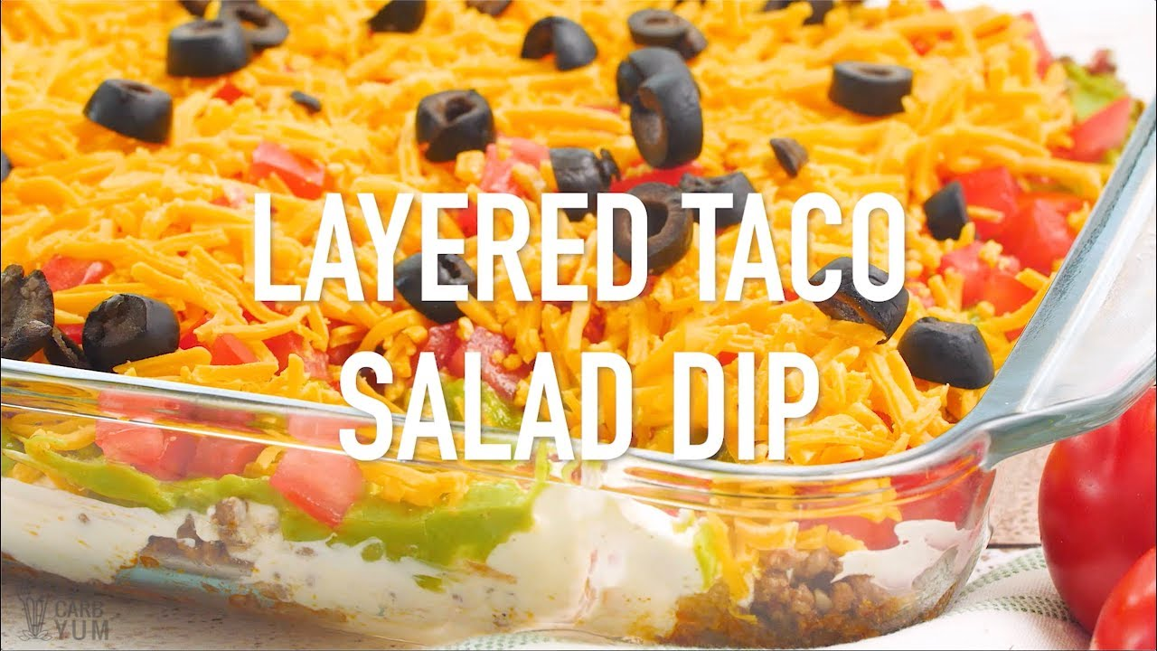 Layered Taco Dip With Meat