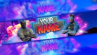 Fortnite: FREE Channel Art Template | Photoshop