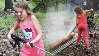 Kid vs. High Power Pressure Sprayer #hilarious