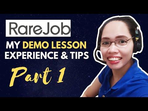 Rarejob Demo Lesson Tips For Beginners 2019 | ESL for Beginners | Part 1