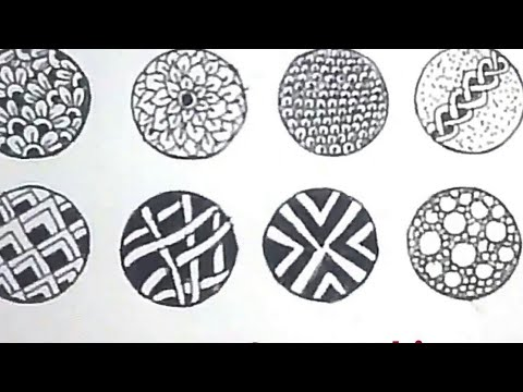10 easy doodle/zentangle patterns for beginners stepstep - youtube