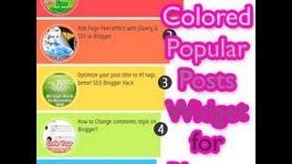 Awsome Multi-Colored Popular Posts Widget for Blogger