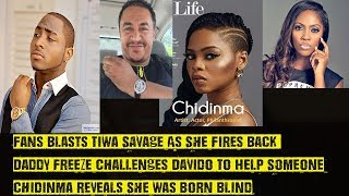 Fans Blasts Tiwa Savage As She Fires Back Daddy Freeze Challenges Davido To Help Someone