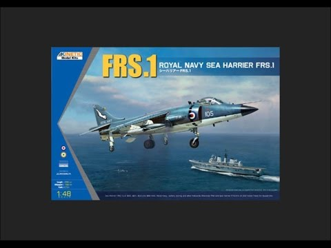 Kinetic 1/48 Royal Navy Sea Harrier FRS.1 Scale Model Review