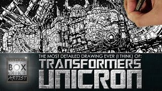DRAWING UNICRON - THE MOST DETAILED DRAWING EVER