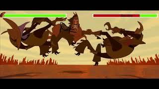 Buck vs  Bandits with healthbars 2