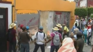 Angry teachers go on the rampage in Mexico's Guerrero state