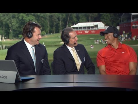Tiger Woods talks about his return to golf at Quicken Loans