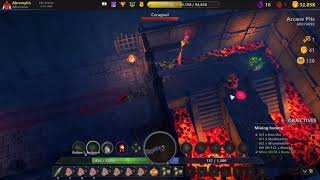 LOST RELICS Blockchain Play to Win game: Arcane Pits Run through
