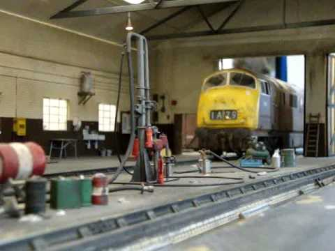 Worcester Road – model railway – gauge 1 diesel locomotive shed by Steve Harrod