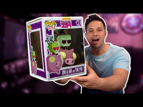 INVADER ZIM & GIR on THE PIG | The FIRST EVER Invader Zim Funko Pop! | Unboxing