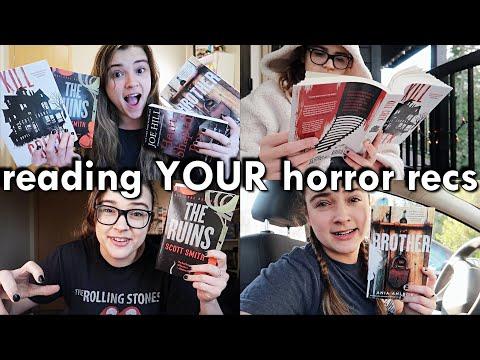 Reading YOUR Horror Recs 👻 [spooky reading vlog]