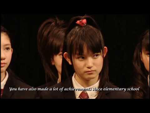Sakura Gakuin The Road to Gradution 2012 - Message of Mori Sensei & Principal Kuramoto [ENG SUB]