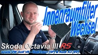 Skoda Octavia RS | Innenraumfilter / Pollenfilter Wechsel