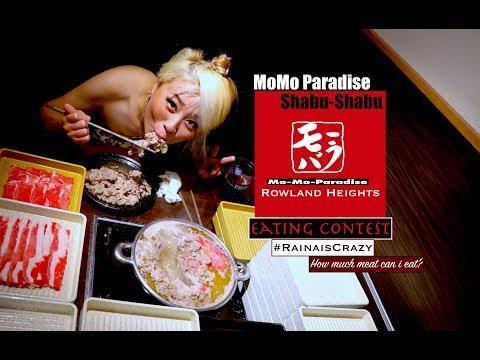 Mo-Mo Paradise Shabu-Shabu Eating Contest | Rowland Heights | RainaisCrazy