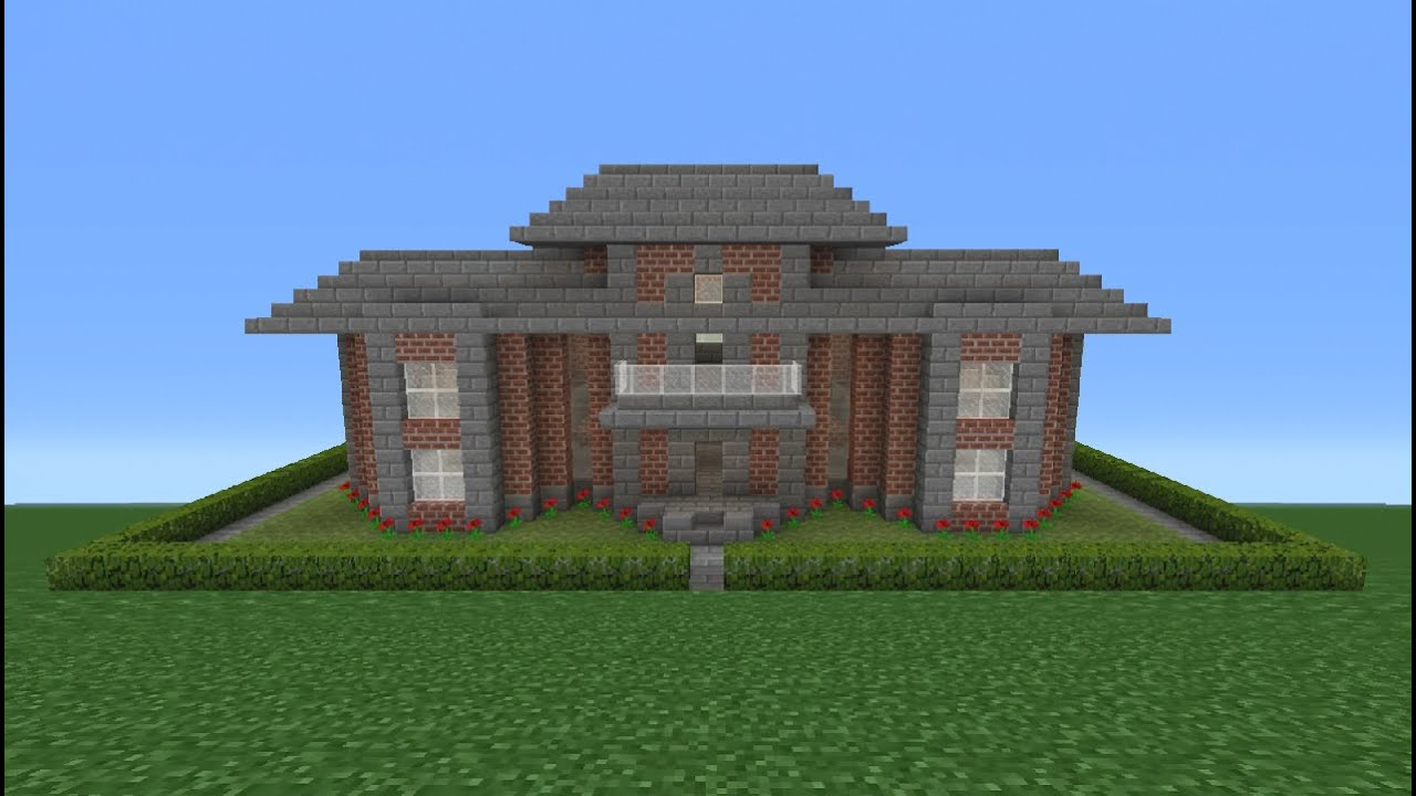Minecraft Tutorial  How To Make A Miniature Brick House