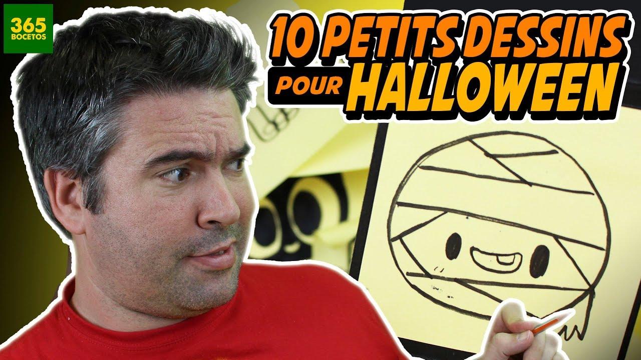 10 Petits Dessins Faciles A Faire Special Halloween Kawaii Youtube