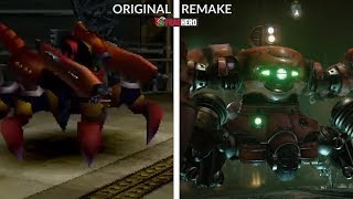 Final Fantasy VII - Side by Side GRAPHICS COMPARISON (Remake vs Original)