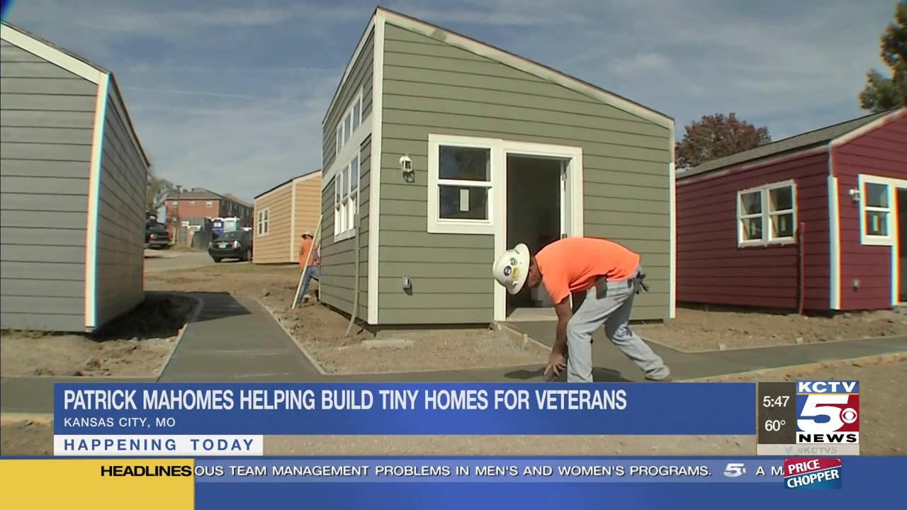 Mahomes Chiefs Build Tiny Homes For Kansas City Veterans You