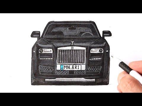 Как нарисовать машину Ролс Ройс | Ehedov Elnur