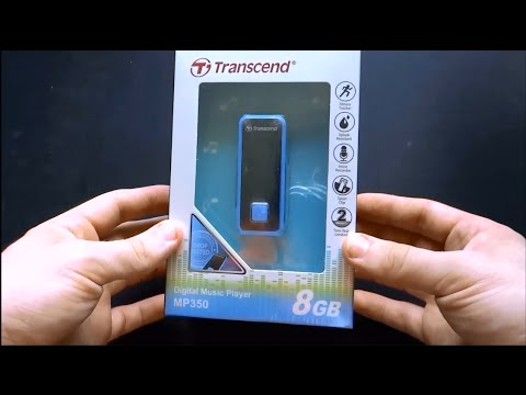 Transcend MP350 8GB Blue Unboxing