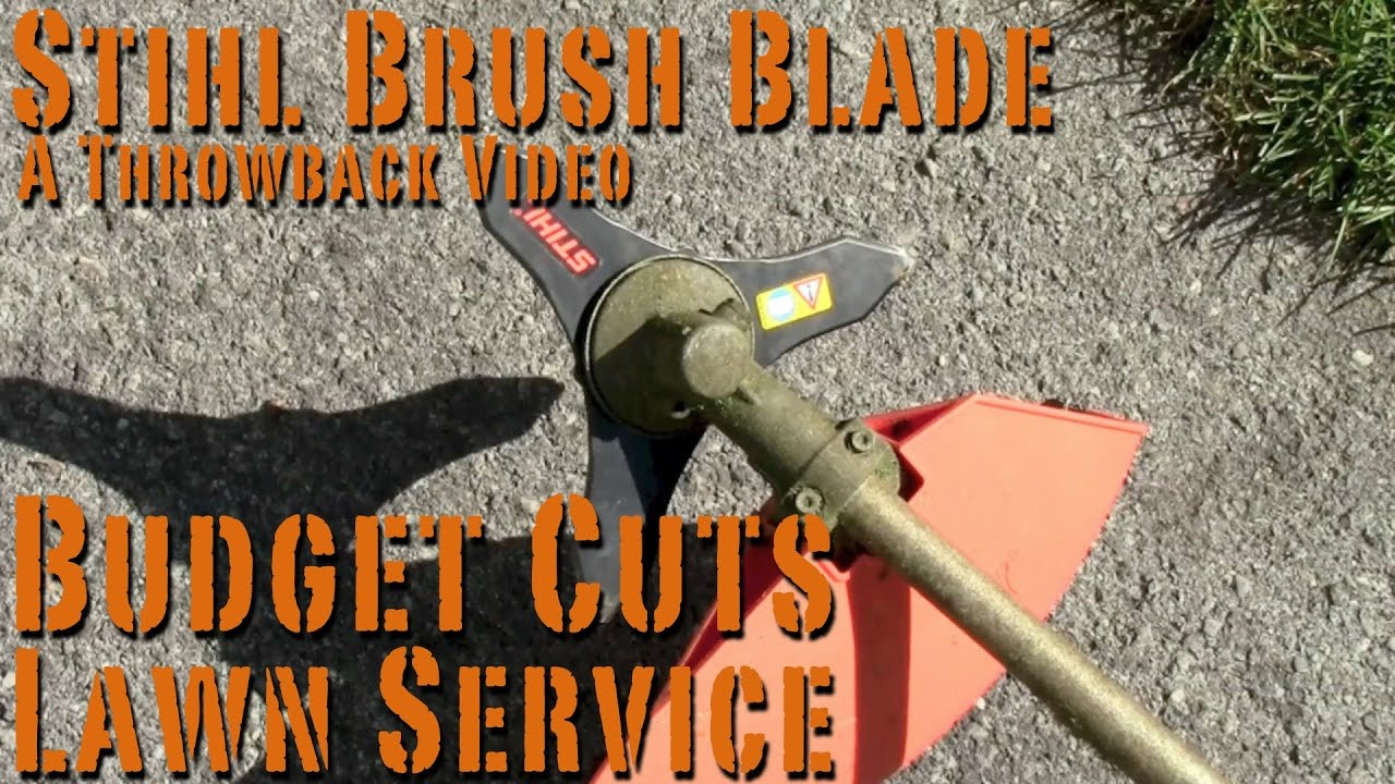 Stihl Brush Knife on FS 90R Cutting Tall Weeds - Budget Cuts Lawn Service