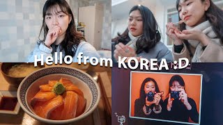 [Youjin vlog] First Time Coming to Korea in the Winter in 10 years 🇰🇷