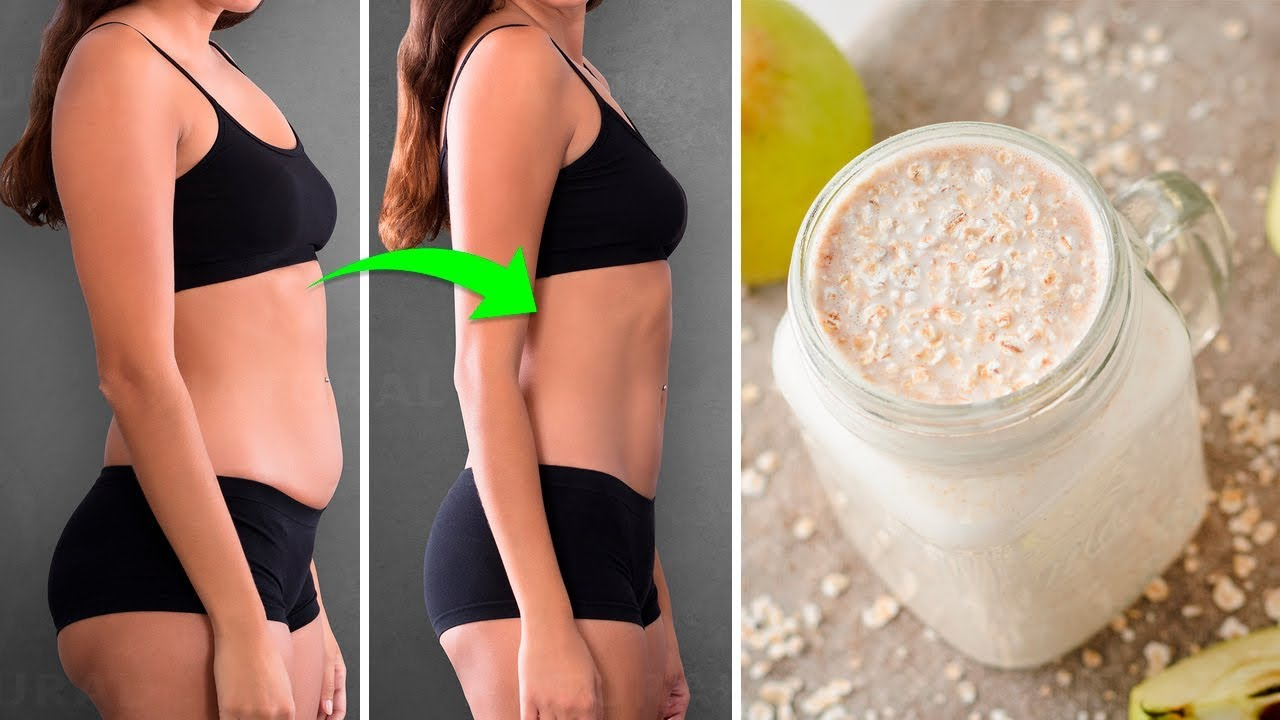 Lose Weight Quickly and Healthily With Apple, Lemon and Oats Smoothie