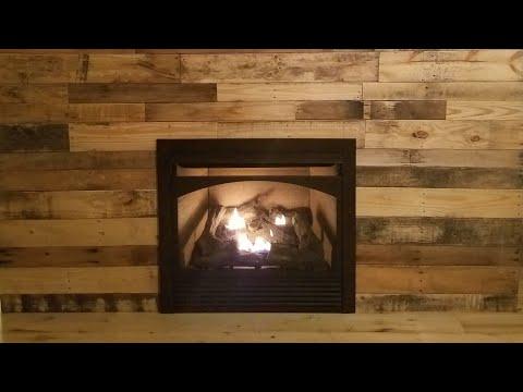 Pallet Wall Installation Around Fireplace