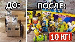 МЕГА-Розпакування: 10 кг Сімпсонів! | Simpsons unboxing