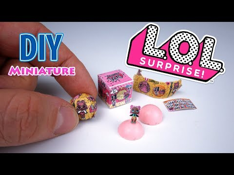 DIY Realistic Miniature Lol Surprise Confetti Pop | DollHouse | No Polymer Clay!