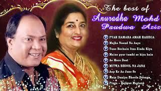 Best Romantic Songs Of Mohd.Aziz vs Anuradha Paudwal ~ Evergreen Romantic Songs - Hindi Love Songs
