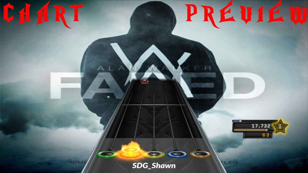 Alan Walker Faded Clone Hero Chart Preview Youtube