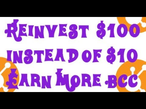 SAVE UR BCC, REINVEST $100, NOT $10, EARN MORE MONEY - BITCONNECT STRATEGY