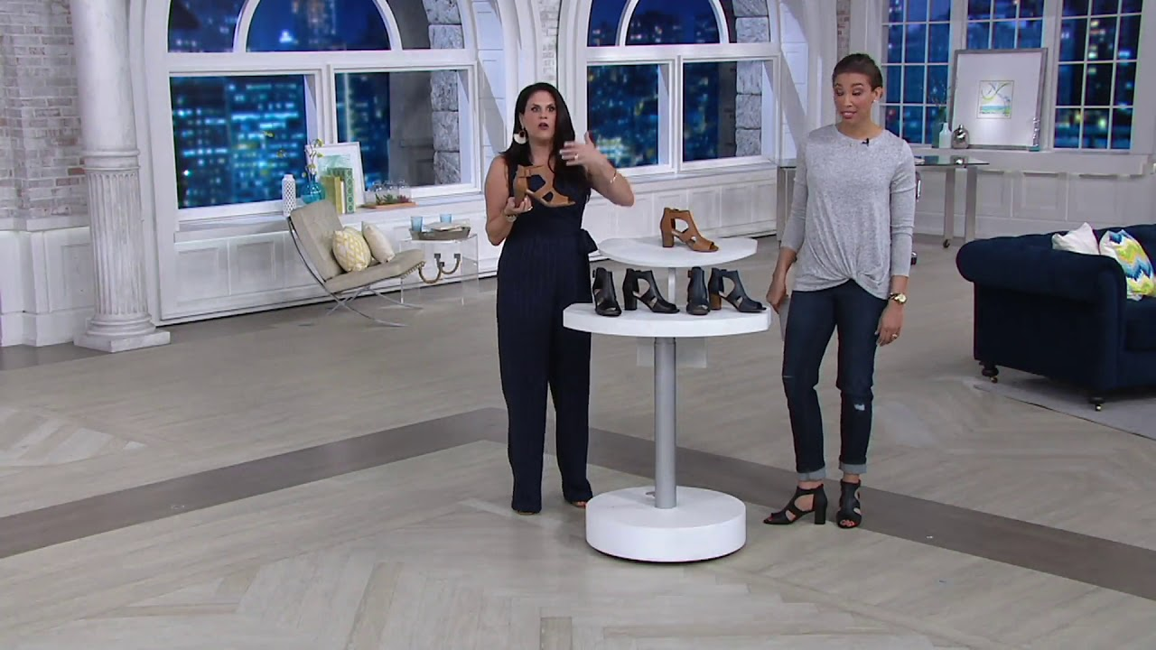 a941a1426d7 Clarks Collection Leather Heeled Sandals - Deva Heidi on QVC