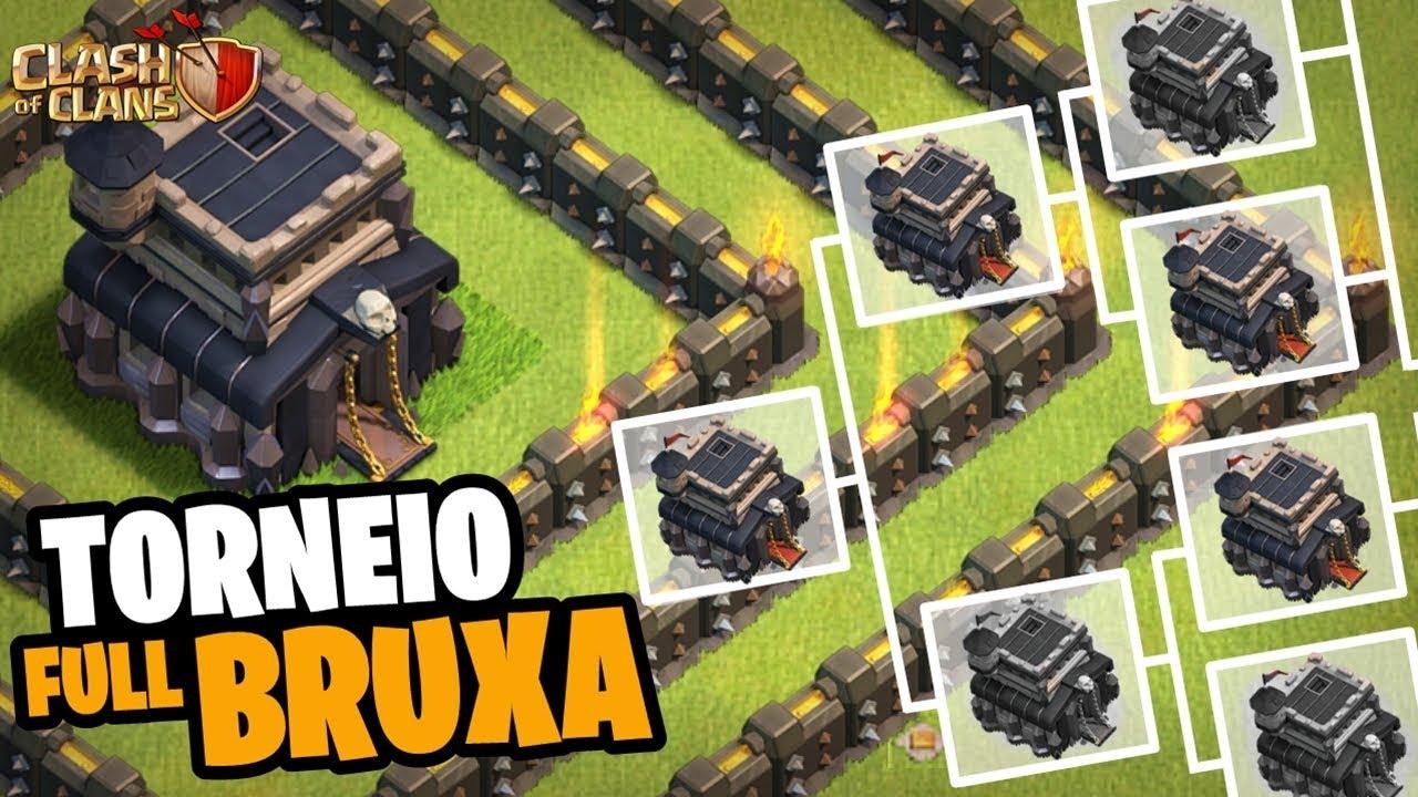 PRIMEIRO TORNEIO FULL BRUXAS CV9! DOMINGÃO MACABRO NO CLASH OF CLANS