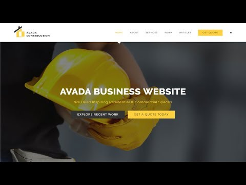 How to Make a Website With WordPress 2017 - Avada Theme Tuto