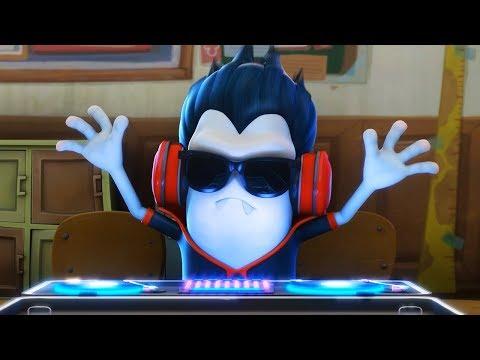 Funny Animated Cartoon   Spookiz   DJ Cula In The House   스푸키즈   Cartoon For Children