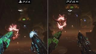 DOOM VFR | PS4 vs. PS4 Pro | VR Graphics Comparison | PSVR | 2160p 60fps
