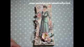 Graphic45 A Ladies' Diary Altered Wooden Letter