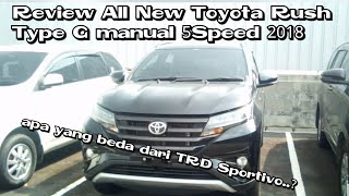 Review All New Toyota Rush Type G Manual 5speed 2018 Indonesia