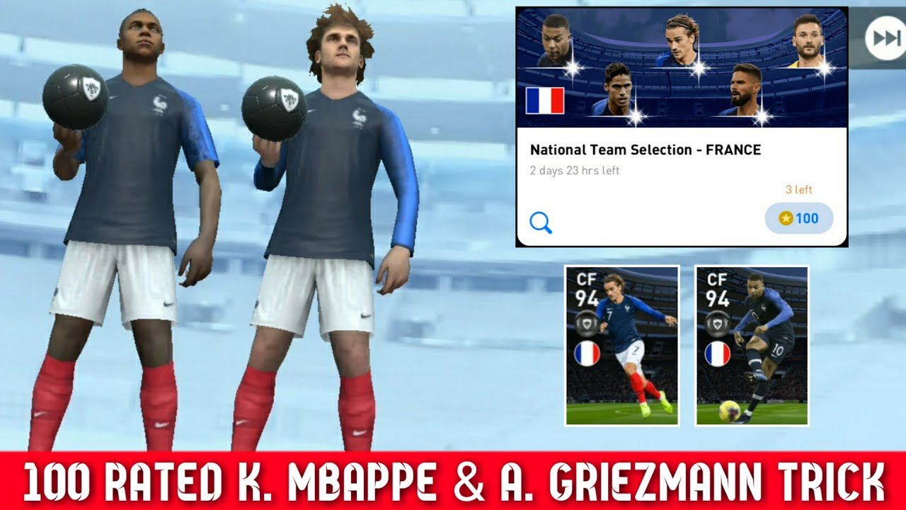 How To Get K. MBAPPE in National Team Selection - FRANCE || Pes 2020 Mobile