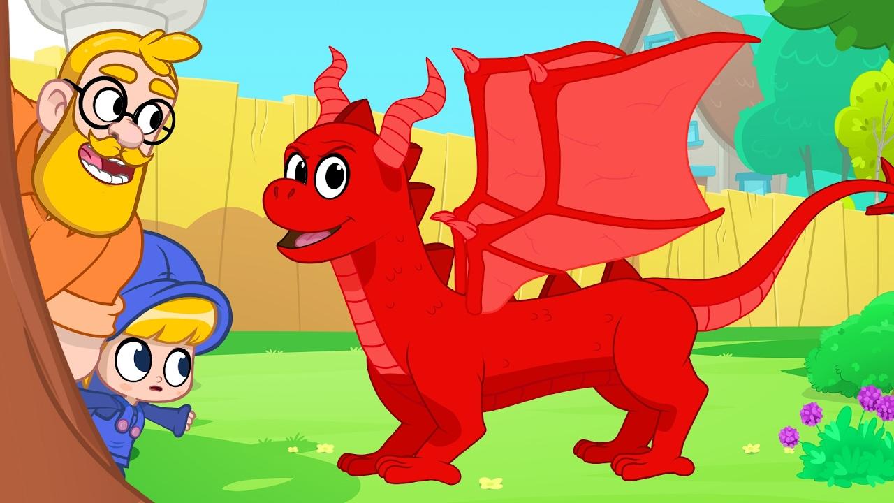 dragon in mila and morphle u0027s back yard my magic pet morphle