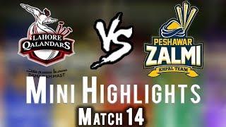 vuclip Short Highlights | Lahore Qalandars Vs Peshawar Zalmi  | Match 14 | 3rd March | HBL PSL 2018