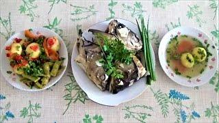 суп УХА из БЕЛОГО АМУРА. Полезная и вкусная еда. Белый амур - рецепты приготовления