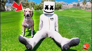 MARSHMELLO GETS HIS FIRST PET DOG! (GTA 5 Mods FNAF Kids RedHatter)
