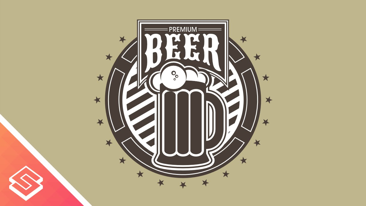 Premium Beer Logo Design in Inkscape - YouTube