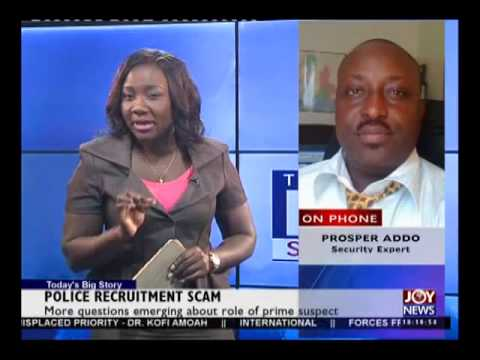 Police Recruitment Scam Questions - Today's Big Story on Joy News (9-3-15)