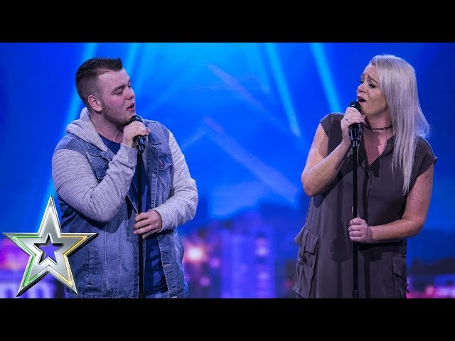 Lucy presses her Golden Buzzer for mother & son duo Sharon and Brandon | Irelands Got Talent 2019