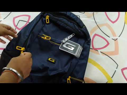 Gear 30 LTR Casual Backpack (Navy Blue and Yellow) Unboxing Hindi.🔥🔥